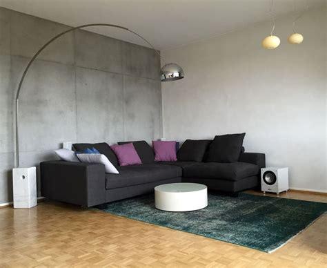 wohnideen wandgestaltung maler wand in betonoptik mit betonputz in frankfurt wiesbaden mainz - Wand In Betonoptik