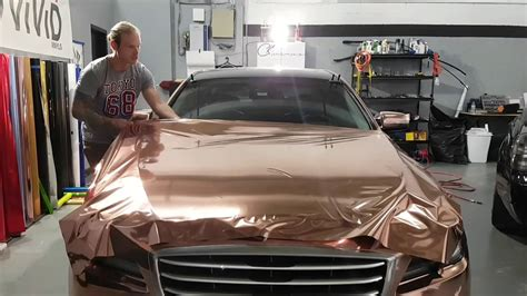 Rose Gold Chrome. Detailed Info On How To Vinyl Wrap A