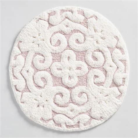 world market bath rugs blush medallion tufted bath mat world market