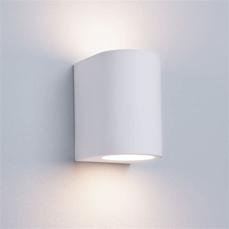 searchlight 8436 modern wall light gypsum white plaster