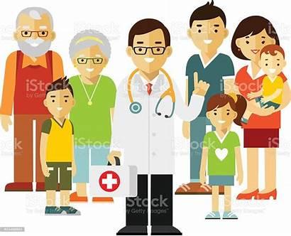 Doctor Patients Happy Practitioner Clipart Vector Patient