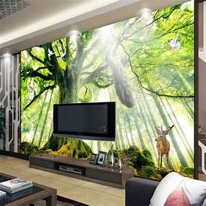 Aliexpress.com : Buy Tree Woods Forest Photo wallpaper ...