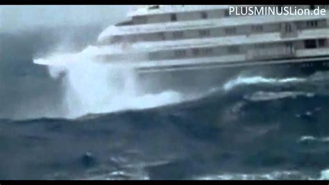 riesige wellen kreuzfahrtschiff   youtube