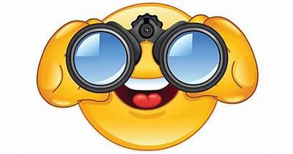 Binoculars Smiley Face Symbols Emoticons Watching