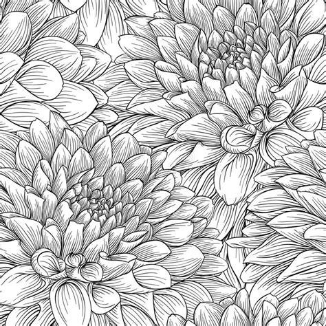 mooie zwart wit zwart witte bloemen en bladeren vector illustratie illustratie bestaande uit