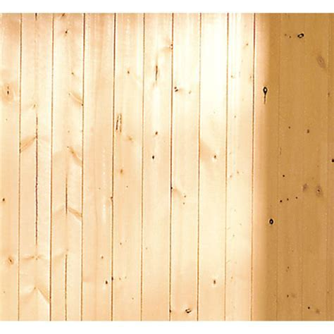 EverTrue 3.5625 in x 8 ft V Groove Gold Pine Wall Panel