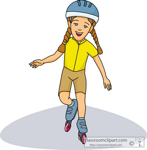 Rolling Skating Clipart