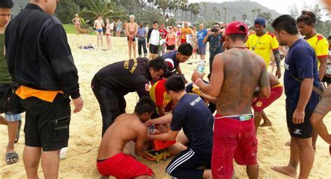 russian drowns  dangerous surf forces lifeguards close sections  phuket beaches