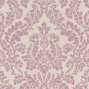 Tapete rasch florentine barock beige lila 449044 for Balkon teppich mit rasch tapeten barock