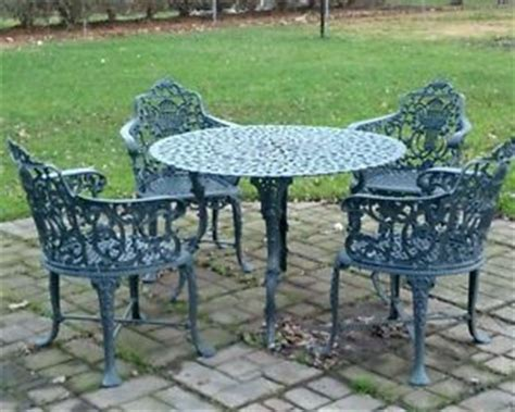 vintage wrought iron patio furniture makers vintage wrought iron patio table set metal garden chairs