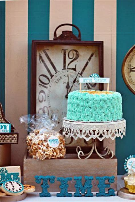Non Traditional Baby Shower by Clock Themed Baby Shower Gender Reveal Baby Shower