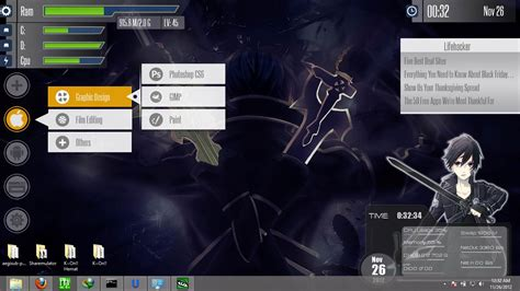 free skin rainmeter sword kirito modification mobile