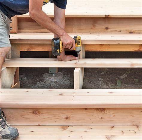 fabriquer un escalier de patio en 233 jardinage et