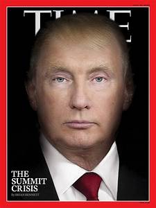 Time magazine cover features eerie portrait of Trump Putin ...
