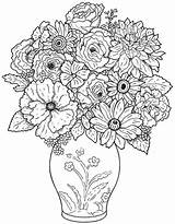 Coloring Bouquet Flower Pages Flowers Colouring Sheets Popular sketch template