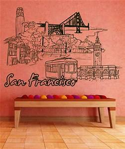 vinyl wall decal sticker san francisco 1396 With vinyl lettering san francisco