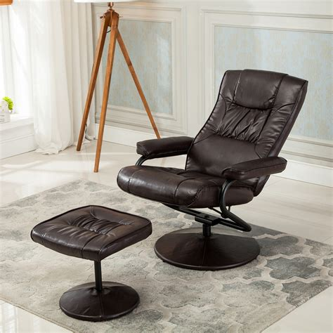 recliner chair swivel armchair lounge seat w footrest