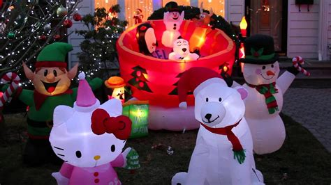 airblown inflatable christmas display  youtube