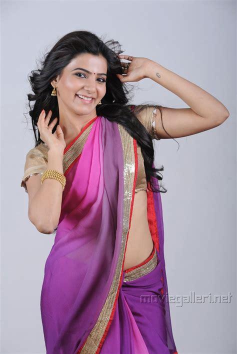 actress samantha photoshoot stills  violet saree great