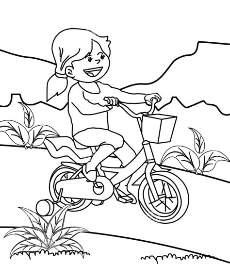 mewarnai gambar anak bermain sepeda belajarmewarnai info