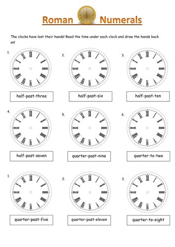 numeral clock worksheets numerals put the in the correct places on