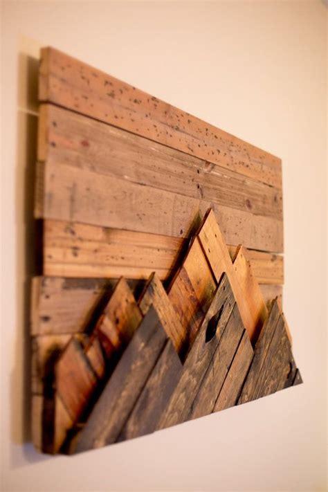 wooden mountain range wall art  woodworking  etsy