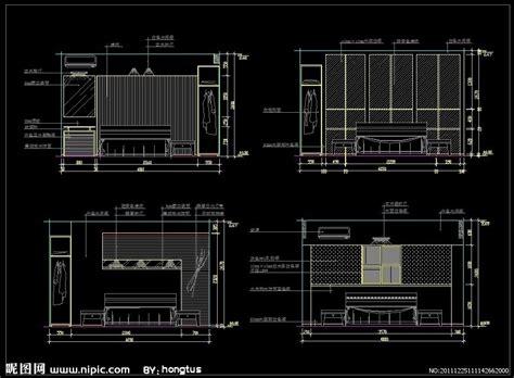 home design cad cad卧室立面 图片大全