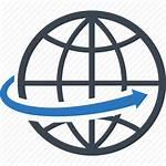 Global Business Communication Icon Globe Worldwide Network