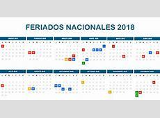 Cronograma con fechas de Feriados Nacionales 2018 – EconoBlog