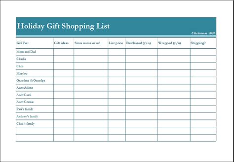 customizable grocery list template gift shopping list fully customizable template excel templates