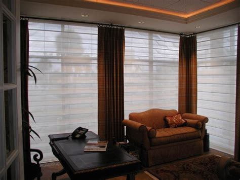 modern window dressings drapery contemporary window treatments orange county by solar shading systems