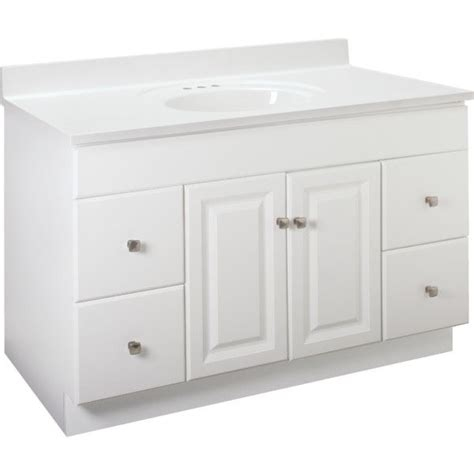 48 inch base cabinet new bathroom vanity drawer base cabinet white thermofoil