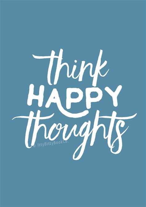 happy thoughts print itty bitty book