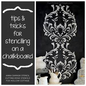 tips and tricks for stenciling on a chalkboard stencil With what kind of paint to use on kitchen cabinets for though she be but little wall art