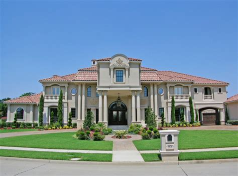 mediterranean estate in plano homes of the rich