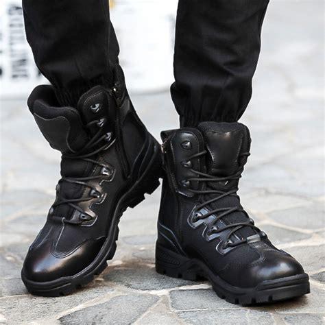Black Combat Boots For Men Boot Hto