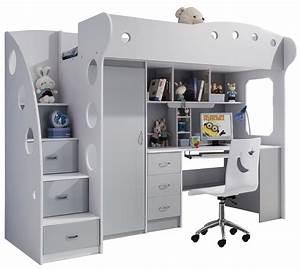 Lit Enfant Combiné : optimiser l espace d une chambre enfant avec un lit combin ~ Farleysfitness.com Idées de Décoration