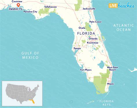map  destin florida  beaches