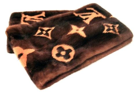 andre leon talleys louis vuitton fur mink monogram scarf