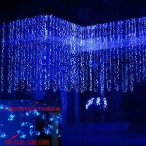 new model blue 600 led water flow waterfall decoration