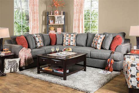 pennington gray sectional  furniture  america
