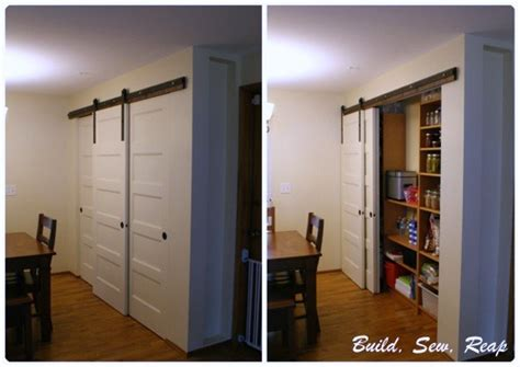 sliding pantry door using barn door hardware