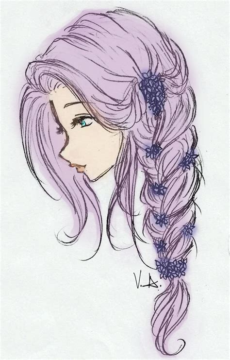Girl Hair Drawing Drawing Of Girls With Long Hair Google Search Amazing