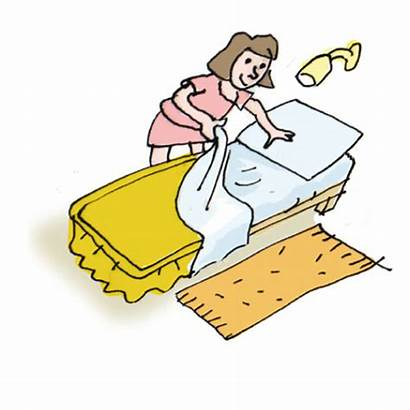 Bed Clipart Making Chores Clip Cliparts Household