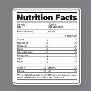 Nutrition Facts Vector Label