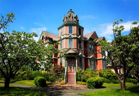 Large Victorian Mansion Stock Photo. Image Of Grand