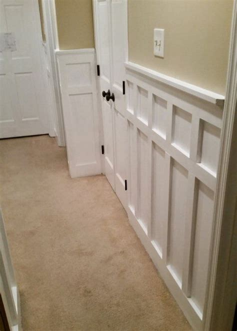 Wainscoting Cap Rail by How To Install Board And Batten Wainscoting White Painted