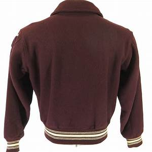 vintage 50s varsity letterman jacket mens 44 chenille With the letter jacket man