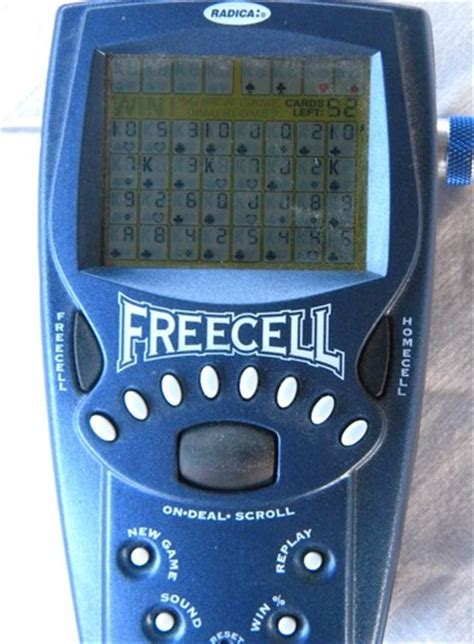 1999 Radica Freecell Solitaire hand held electronic card game