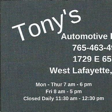 tonys automotive repair west lafayette indiana facebook